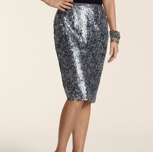 Chico's Sequin Stephanie Skirt Size 0.5/S(6)